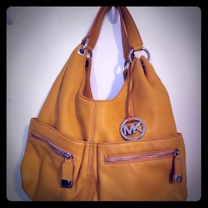 For Sale: Authentic yellow brown Michael Kors
